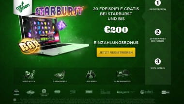 Den Matchbonus bei Mr. Green abstauben