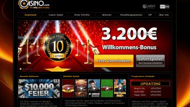 Casino.com feiert zehnjähriges Bestehen