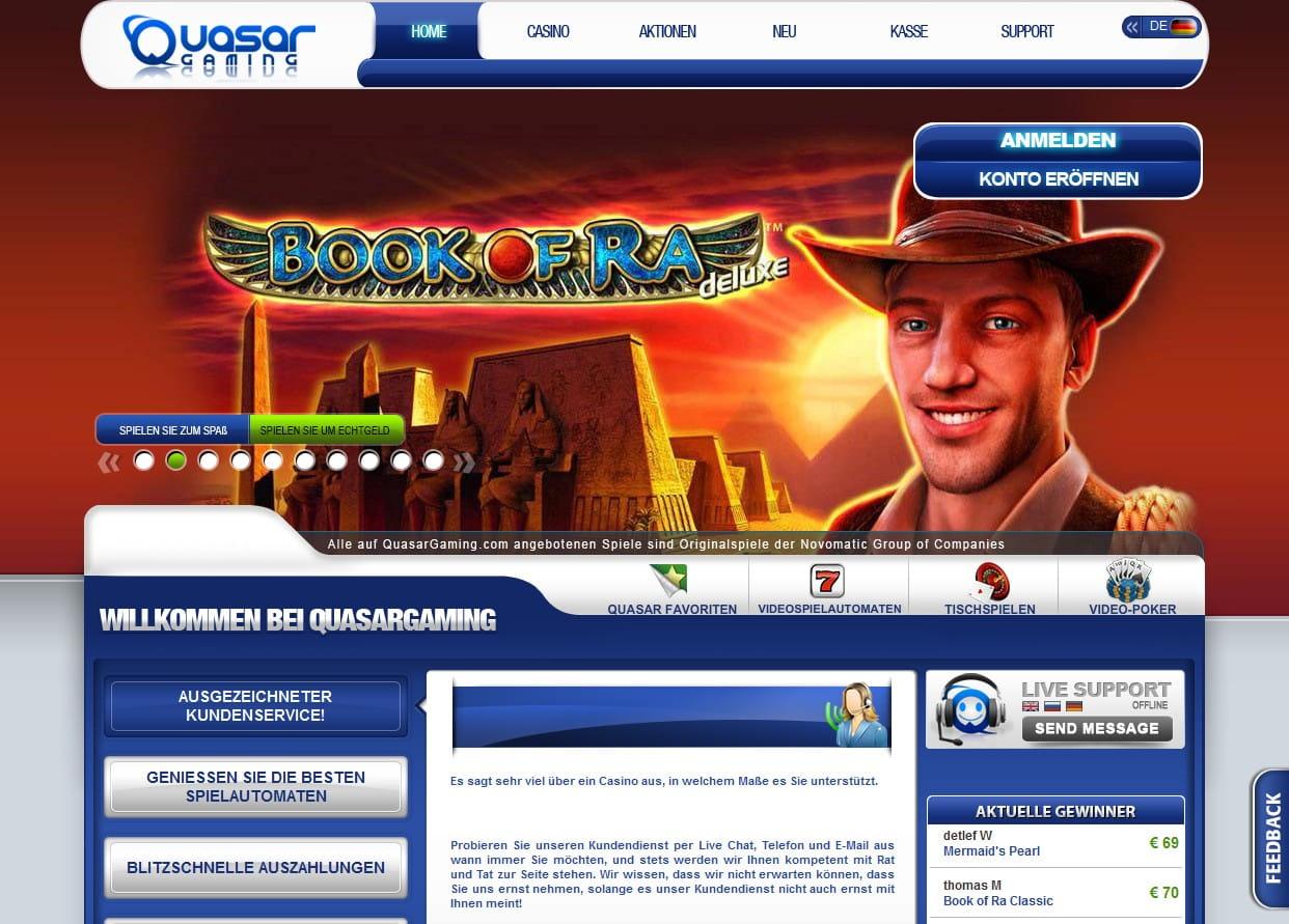 quasar casino auszahlung
