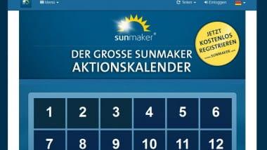 Sunmaker Kalender: Neuer Bonus jeden Tag
