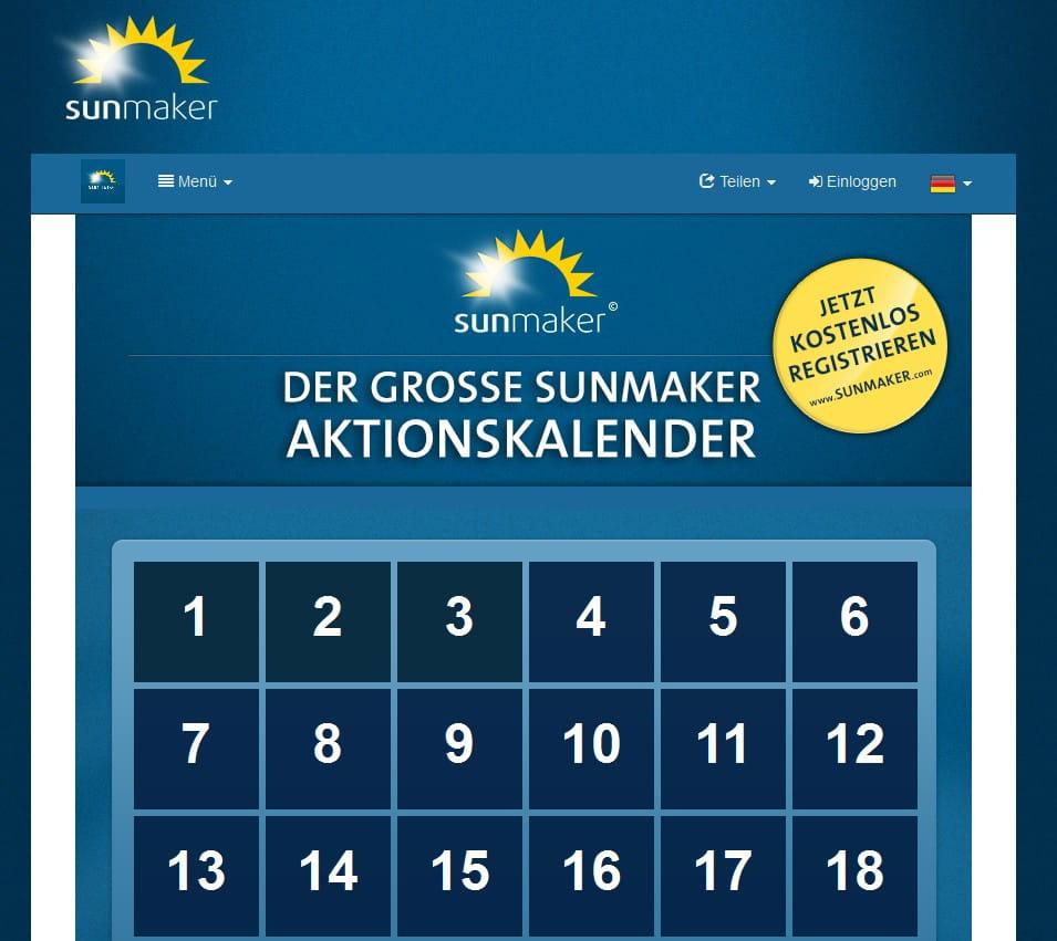 sunmaker aktionskalender