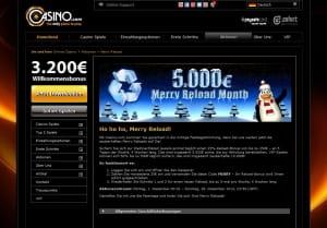 Casino.com Merry Reload