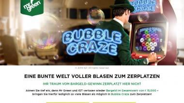 Mr. Green lässt die Blasen zu Bargeld werden