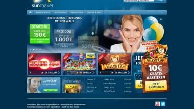 10 Euro gratis im Sunmaker Casino