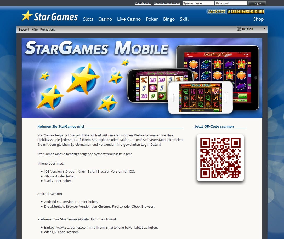 Stargames Mobile Version