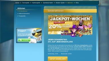 Jackpot Wochen im Sunnyplayer Casino