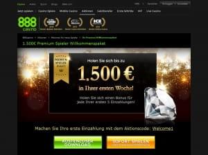 888Casino Premium Bonus