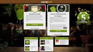 ComeOn Casino feiert fünfjähriges Bestehen