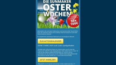 Osterhase mit Extrageld im Sunmaker Casino