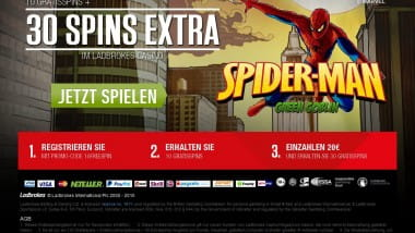 Kostenloser Spiderman Bonus im Ladbrokes Casino
