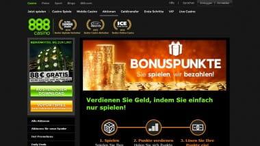 888Casino mit neuem Bonuspunktesystem