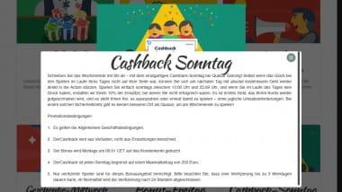 Kaffeekränzchen am Sonntag mit Cashback