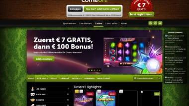 Die Topspiele im ComeOn Casino