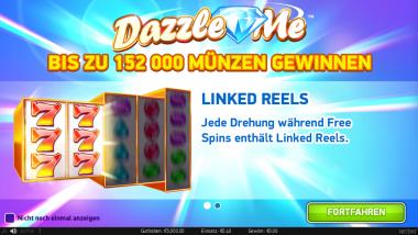 Dazzle Me im ComeOn Casino
