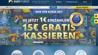 Mega Jackpot bei Sunmaker gefallen