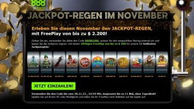 Jackpot-Regen im 888Casino
