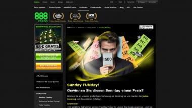 888Casino: Die Woche beginnt sonntags