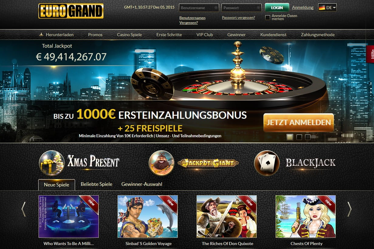 Eurogrand Casino Auszahlung