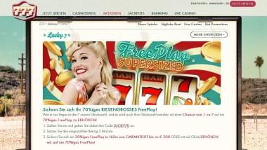 Riesengroßes Free Play im 777 Casino