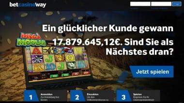 Der Topjackpot im Betway Casino