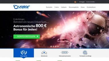 Quasar Casino erhöht Bonus auf 800 €