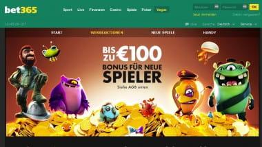 100€ Bonus mit Vegas bei bet365