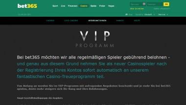 Im bet365 VIP Programm werden Stammspieler belohnt