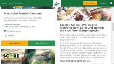 Mr. Green Live Casino Bargeldgewinn – Spielen und gewinnen