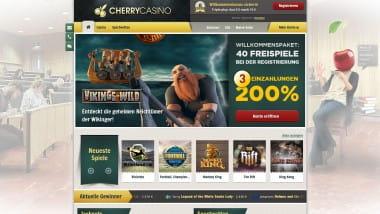 CherryCasino – 40 Freispiele für neue Kunden