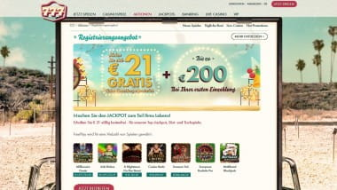 777 Casino – 21 Euro FreePlay für die Anmeldung