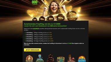 888Casino – FreePlay bis zu 8.888 Euro
