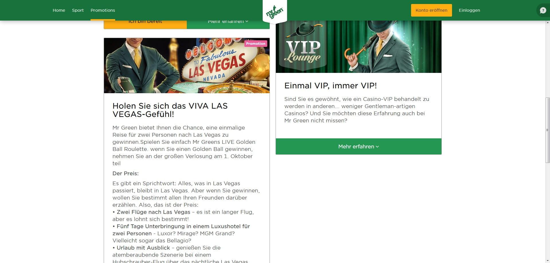 Mr Green Reise Nach Las Vegas Gewinnen Spielcasino
