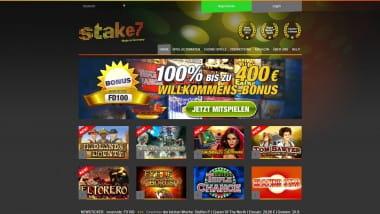 Stake7 Casino – 100% Neukundenbonus bis zu 400 Euro