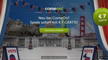 ComeOn Casino: Freispiele und Bonus in den USA-Wochen