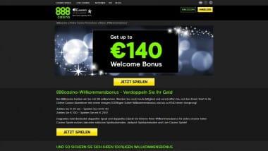 888 Casino: 140 Euro Bonus für neue Kunden