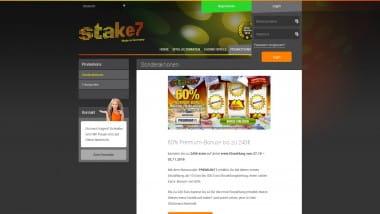 Stake7: 60% Premium-Bonus schnappen