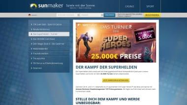 Sunmaker – Superhelden-Turnier bringt 25.000 Euro