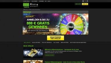 888 Casino: Schneekugel-Freeplay bringt täglich bis zu 250 Euro