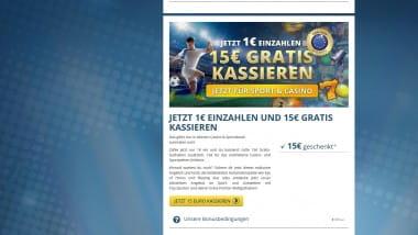 Sunmaker: 1 Euro zahlen und mit 16 Euro starten