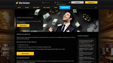 StarGames: 100 Euro Willkommensbonus sichern