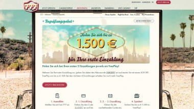 777 Casino: 1.500 Euro Bonus für neue Spieler sichern