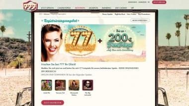 777 Casino: 77 Euro Bonus ohne Einzahlung holen