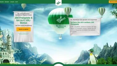 Mr Green: 100 Euro Bonus und 200 Freispiele sichern
