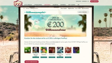 777 Casino: 100% Freeplay bis zu 200 Euro