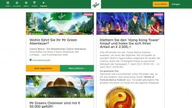 Mr Green Casino: Anteil am 2.500 Euro Gesamtpreis sichern
