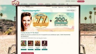 777 Casino: 77 Freispiele ohne Einzahlung