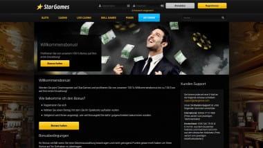 Stargames: Mit 100% Bonus bis zu 100 Euro starten