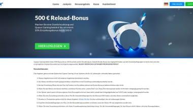 Quasar Gaming: 500 Euro Bonus für die zweite Einzahlung