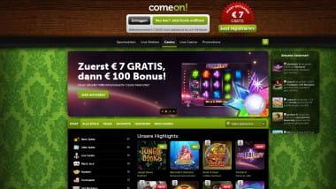 ComeOn Casino: Zwei Bonusangebote zur Wahl