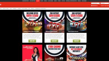 Ladbrokes Casino: Doppelter Bonus für Neukunden